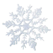 "4"" Glitter Snowflakes (Pack of 10)"