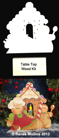 #512  Holiday Baking (TABLE TOP WOOD KIT)