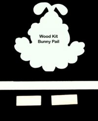 #601 Bunny Flower Pail (WOOD KIT)