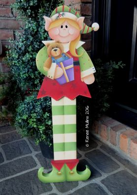 "#706  ""Girl Elf Porch Greeter"" (PATTERN)"