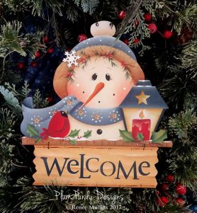 "#714  ""Snowman Welcome Topper"" (PATTERN)"