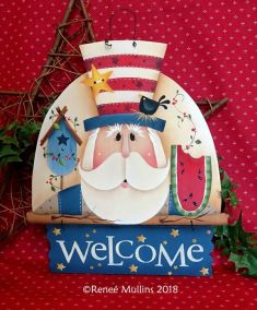 #727 Uncle Sam Welcome Topper (PATTERN)