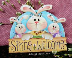 #733 Spring Bunny Welcome (PATTERN)