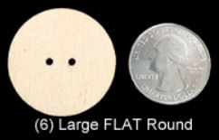 Flat Round Buttons   (LARGE)