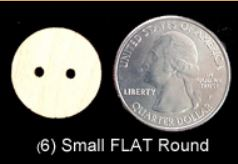 Flat Round Buttons (SMALL)