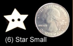 Star Buttons (SMALL)