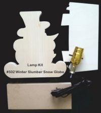 #502 Winter Slumber Snow Globe (LAMP KIT)