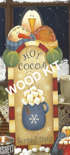 """Let's Have Cocoa"" SIGN  (WOOD)"