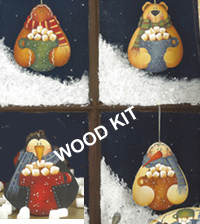 Let's Have Cocoa Ornaments (WOOD)