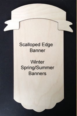 Scalloped Edge Banner (WOOD)