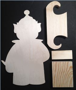 "#705 ""Boy Elf Porch Greeter""  (WOOD KIT)"