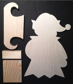 "#706  ""Girl Elf Porch Greeter"" (WOOD KIT)"