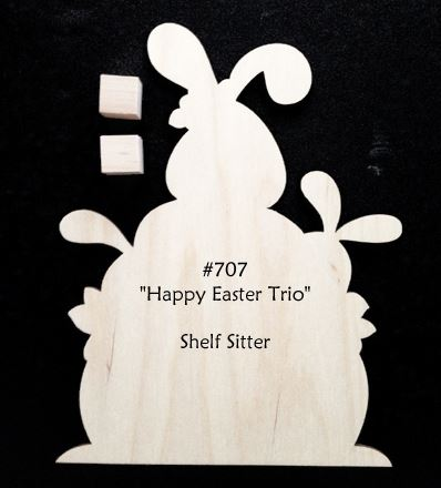#707 Easter Bunny Trio (WOOD)