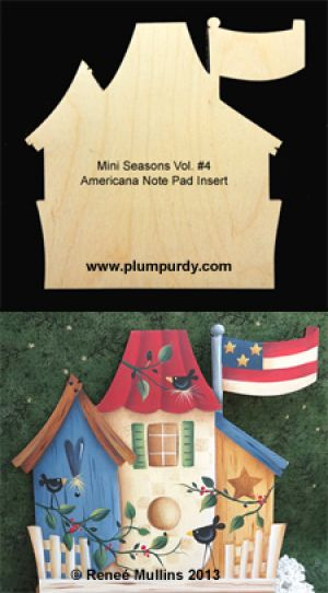Americana Note Pad Insert (WOOD)