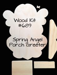 #689 Spring Angel Porch Greeter (WOOD KIT)