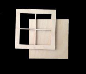 Window Frame Lg. (WOOD)