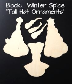 Tall Hat Snowman Ornaments (WOOD - WINTER SPICE BOOK)