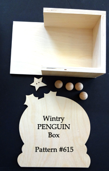 Wintry Planter Box (PENGUIN WOOD)