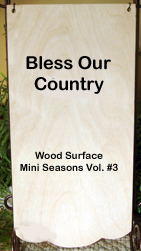 Wood Banner (Bless Our Country)