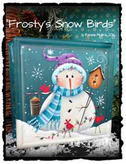 "#691  ""Frosty's Snow Birds"" (PATTERN)"