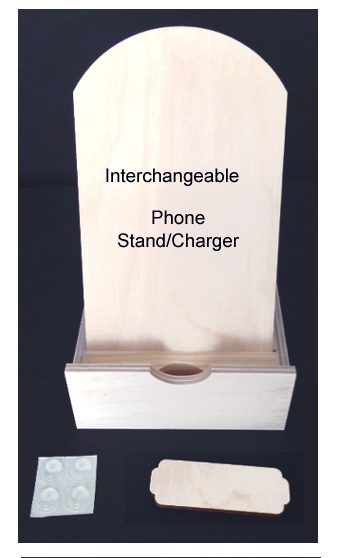 Phone Stand/Charger Base (Interchangeable WOOD)