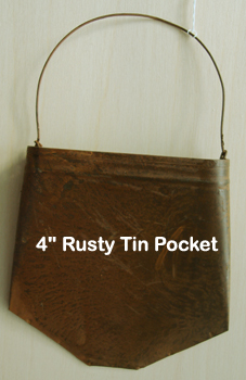 "4"" Rusty Tin Pocket"