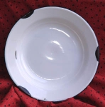Enamelware Bowl~Black Rim