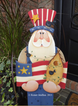 #630 Uncle Sam Porch Greeter (PATTERN)